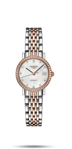 LONGINES LONGINES Elegant Collection Women's Luxury Sapphire Crystal Watch - Stainless Steel - Gemorie