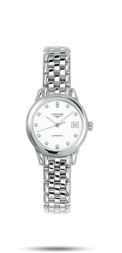 LONGINES LONGINES Flagship 12 Top Wesselton VS-SI Diamonds Women's Watch - Stainless Steel - Gemorie