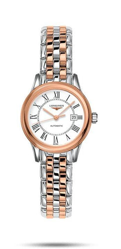 LONGINES LONGINES Flagship Self-Winding Automatic Movement Women's Watch - Stainless Steel & Red PVD - Gemorie