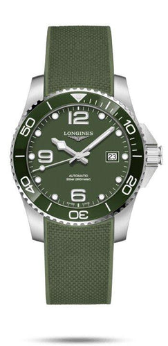 LONGINES LONGINES HydroConquest 41mm Scratch-Resistant Men's Watch - Green - Gemorie