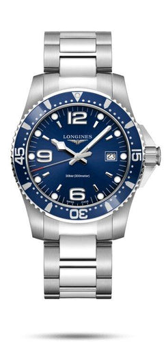 LONGINES LONGINES HydroConquest 41mm Swiss Super-LumiNova® Watch - Stainless Steel - Gemorie