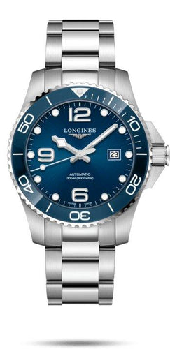 LONGINES LONGINES HydroConquest 43mm Men's Ceramic Watch - Stainless Steel - Gemorie