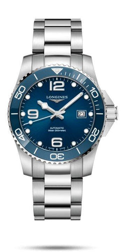 LONGINES LONGINES HydroConquest Swiss 41mm Super-LumiNova® Watch - Stainless Steel - Gemorie