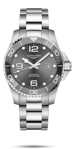 LONGINES LONGINES HydroConquest Unidirectional Rotating Bezel Men's Watch - Stainless Steel - Gemorie