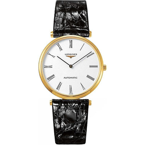LONGINES LONGINES La Grade Classique Timeless Leather Watch - Black - Gemorie