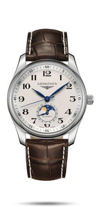 LONGINES LONGINES Master Collection Men's Leather Watch - Brown - Gemorie