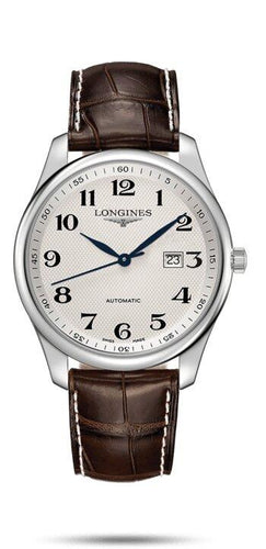 LONGINES LONGINES Master Collection Scratch-Resistant Sapphire Crystal Men's Watch - Brown - Gemorie