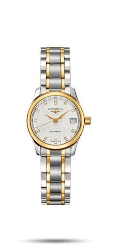 LONGINES LONGINES Master Round Sapphire Crystal Women's Watch - 18 Karat Yellow Gold & Stainless Steel - Gemorie