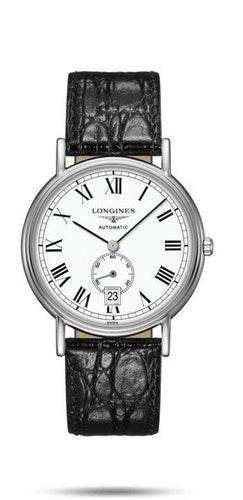 LONGINES LONGINES Présence Collection Leather Men's Watch - Black - Gemorie