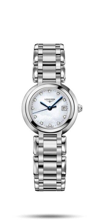 LONGINES LONGINES PrimaLuna Women's 0.032 Karat Watch - Stainless Steel - Gemorie