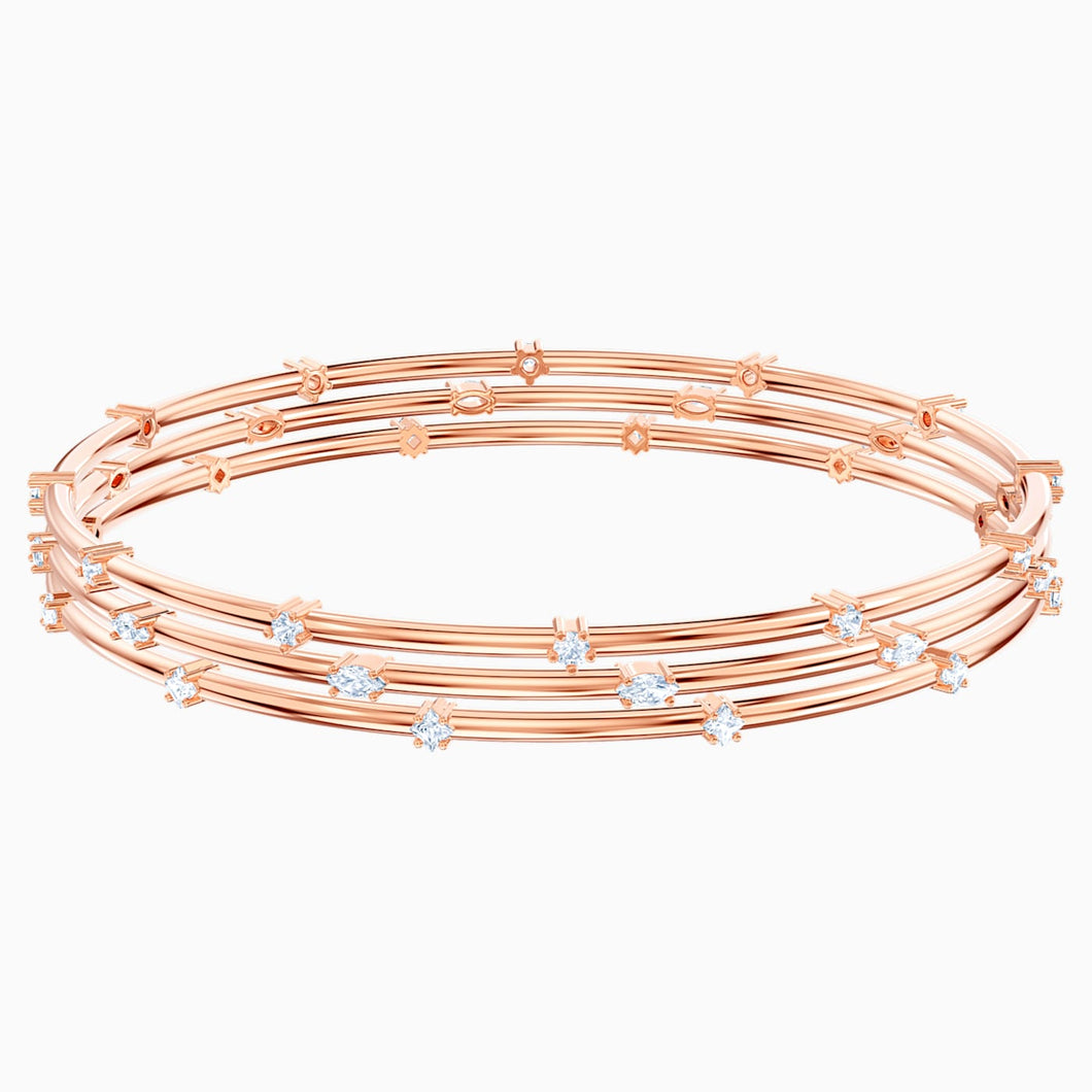 SWAROVSKI Moonsun Bangle Set - White & Rose Gold Tone Plated