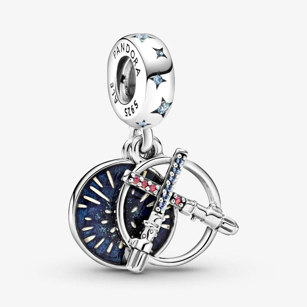 Pandora PANDORA Star Wars Lightsaber Double Dangle Charm - Gemorie