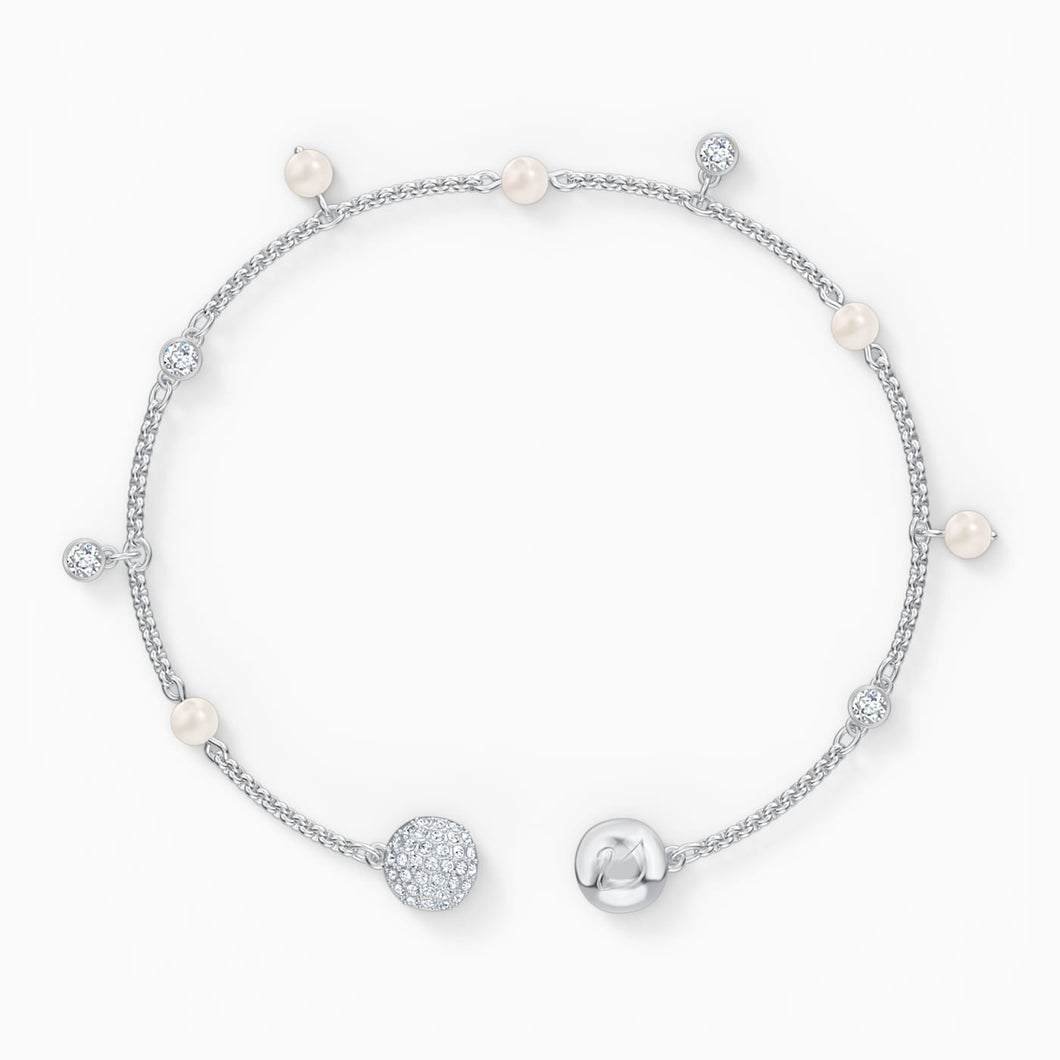 SWAROVSKI Remix Collection Delicate Pearl Strand - White & Rhodium Plated