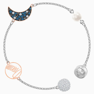 SWAROVSKI Remix Collection Moon Strand - Multicolor & Mixed Metal Finish