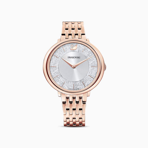 Swarovski SWAROVSKI Crystalline Chic Metal Bracelet Watch - Rose Gold - Gemorie