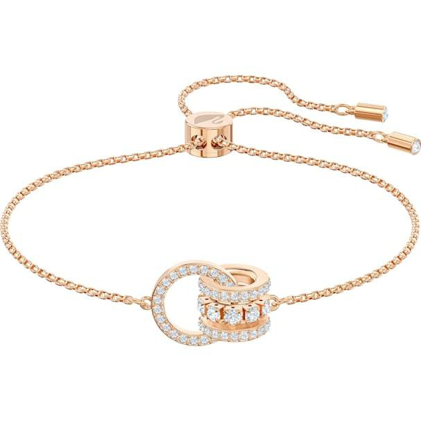 Swarovski SWAROVSKI FURTHER BRACELET, WHITE, ROSE-GOLD TONE PLATED - Gemorie