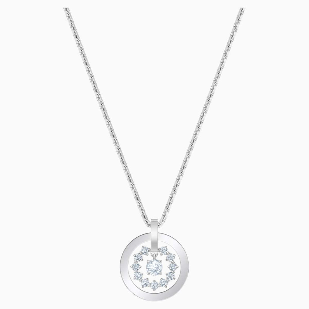 Swarovski SWAROVSKI Further Star-Like Necklace - White & Rhodium Plated - Gemorie