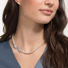 Load image into Gallery viewer, Swarovski SWAROVSKI Nice Crystal Pearl Necklace - White & Rhodium Plated - Gemorie