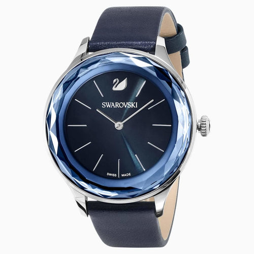 Swarovski SWAROVSKI Octea Nova Leather Watch - Blue & Stainless Steel - Gemorie