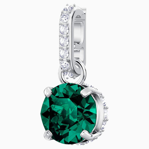 Swarovski SWAROVSKI REMIX COLLECTION CHARM, MAY, GREEN, RHODIUM PLATED - Gemorie