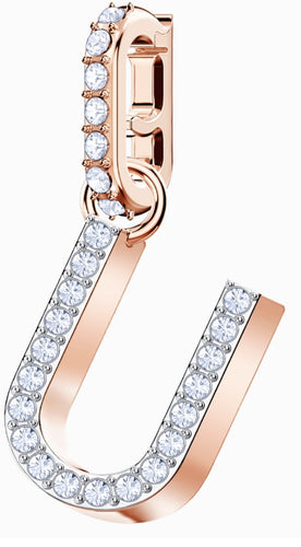Swarovski SWAROVSKI REMIX COLLECTION CHARM U, WHITE, ROSE-GOLD TONE PLATED - Gemorie