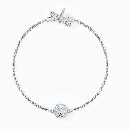Swarovski SWAROVSKI Remix Collection Dragonfly Strand - White & Rhodium Plated - Gemorie