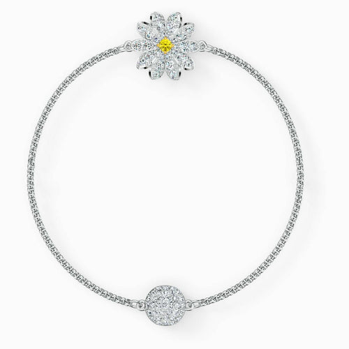 Swarovski SWAROVSKI Remix Collection Flower Strand - White & Rhodium Plated - Gemorie