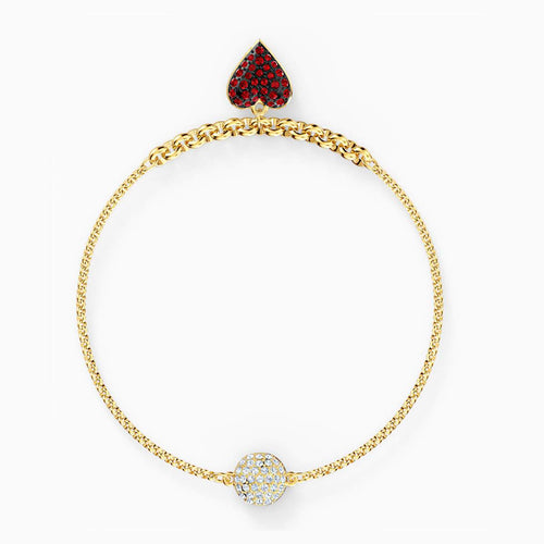 Swarovski SWAROVSKI Remix Collection Heart Strand - Red & Gold-Tone Plated - Gemorie