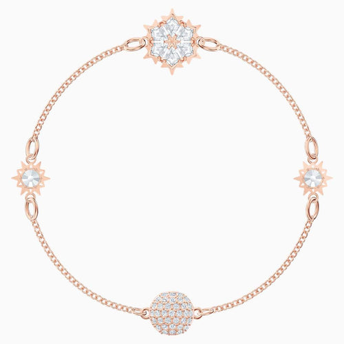 Swarovski SWAROVSKI Remix Collection Snowflake Strand - White & Rose-Gold Tone Plated - Gemorie