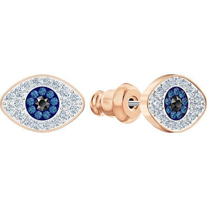 Swarovski SWAROVSKI SYMBOLIC STUD PIERCED EARRINGS, BLUE, ROSE-GOLD TONE PLATED - Gemorie