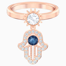 Load image into Gallery viewer, SWAROVSKI Symbolic Motif Ring - Blue & Rose Gold Tone Plated