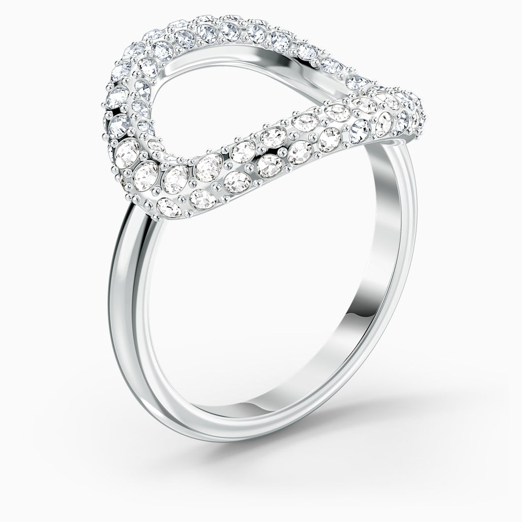 SWAROVSKI The Elements Air Ring - White & Rhodium Plated