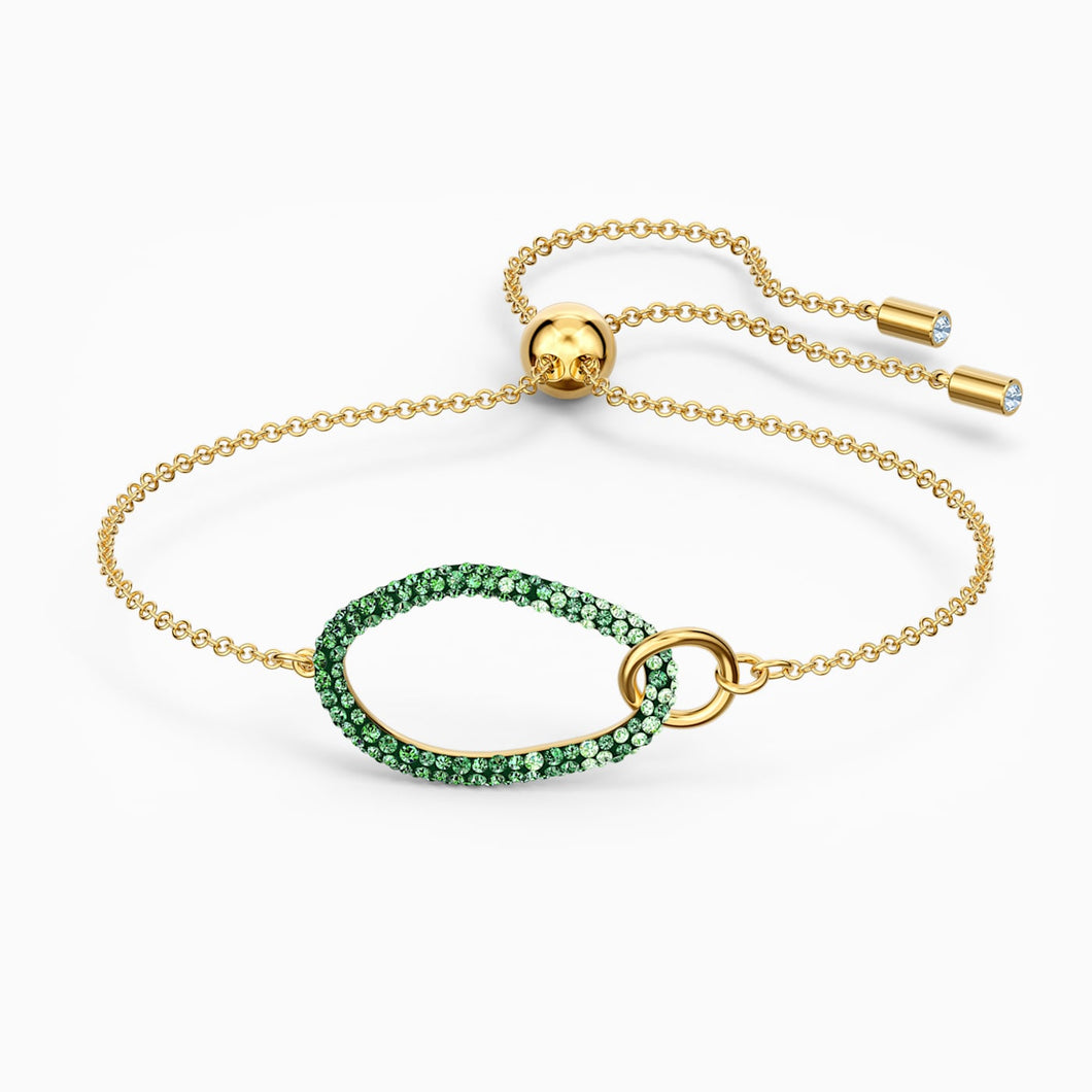 SWAROVSKI The Elements Bracelet - Green & Gold Tone Plated