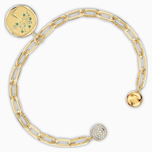 SWAROVSKI The Elements Tree Bracelet - Green & Gold Tone Plated