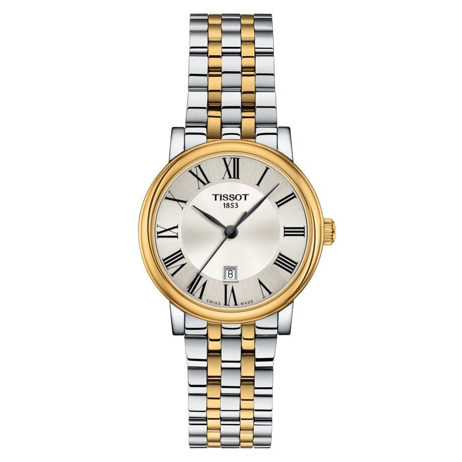Tissot TISSOT Carson Premium Lady With Butterfly Clasp Buckle - Stainless Steel & Gold - Gemorie