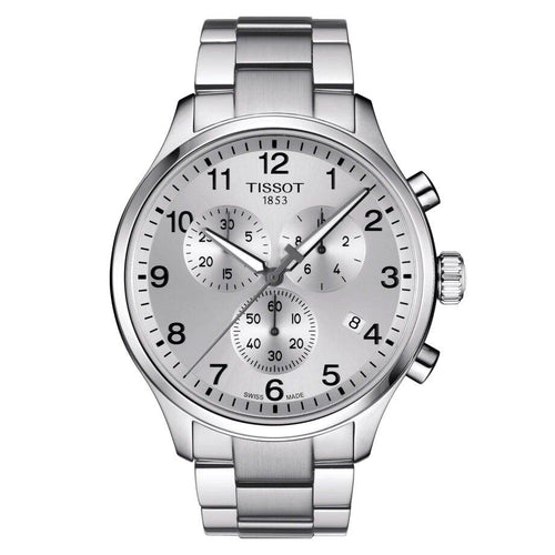 Tissot TISSOT Chrono XL Classic T-Sport Collection Round Arabic Index Watch - Stainless Steel - Gemorie