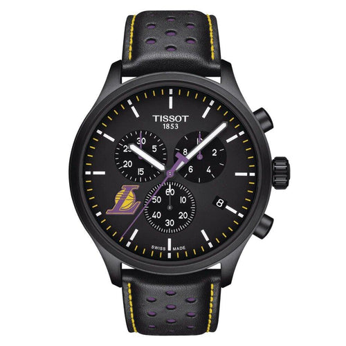 Tissot TISSOT Chrono XL NBA Teams Special Los Angeles Lakers Edition Men's Watch - Black - Gemorie