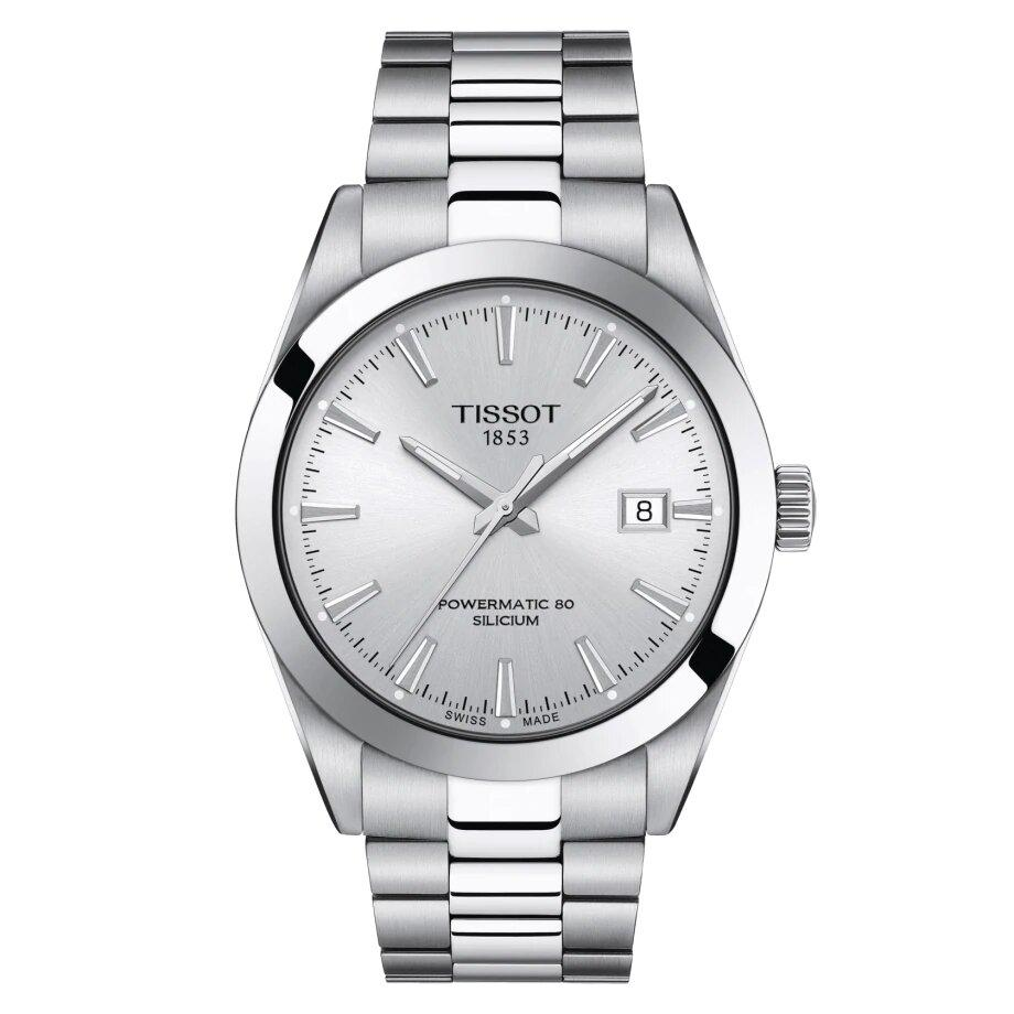 Tissot TISSOT Gentleman Powermatic 80 Silicium HMSD Dial Men's Watch - Stainless Steel - Gemorie