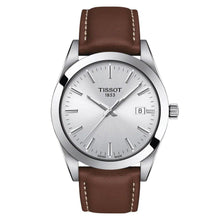 Load image into Gallery viewer, Tissot TISSOT Gentleman Round HMS Dial Men's Leather Watch - Brown - Gemorie