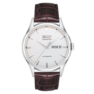Tissot TISSOT Heritage Visodate Automatic Silver Dial Men's Watch - Brown - Gemorie