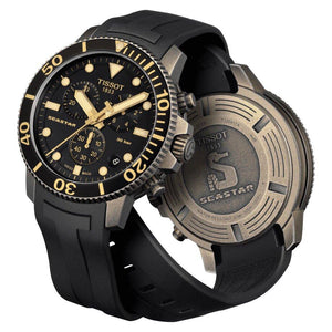 Tissot TISSOT Seastar 1000 Chronograph T-Sport Collection Screw Down Crown Watch - Black - Gemorie