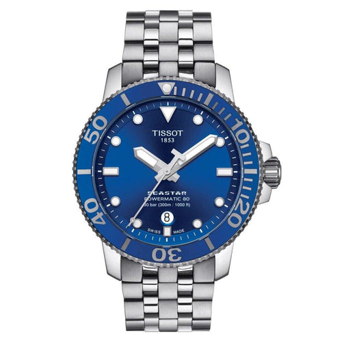 Tissot TISSOT Seastar 1000 Powermatic 80 Ceramic Bezel Watch - Stainless Steel - Gemorie