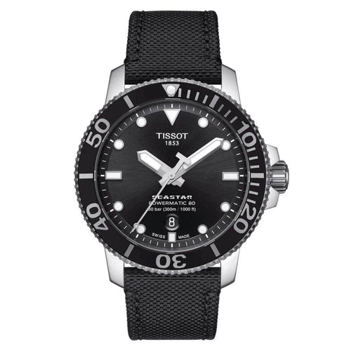 Tissot TISSOT Seastar 1000 Powermatic 80 High Power Reserve Fabric Watch - Black - Gemorie