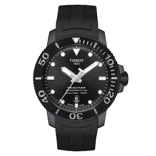 Tissot TISSOT Seastar 1000 Powermatic 80 Rubber Watch - Black - Gemorie