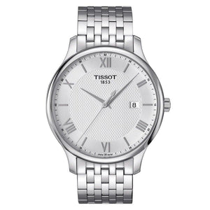 Tissot TISSOT Tradition Vintage Style Sapphire Crystal Men's Watch - Stainless Steel - Gemorie