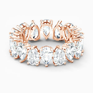 SWAROVSKI Vittore Pear Ring - White & Rose Gold Tone Plated