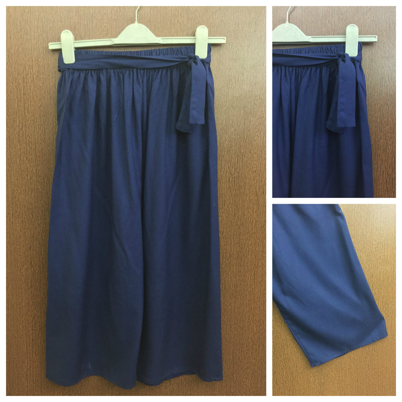 Side Knot Casual Lower - Royal Blue