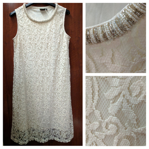 Beautiful Cream Net Dress - #FTFY - For The Fun Years
