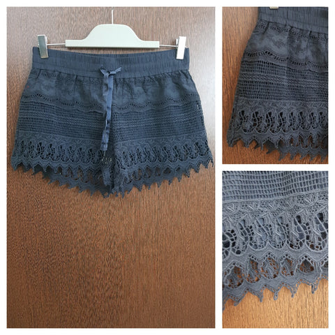 Navy Blue Lacy Shorts
