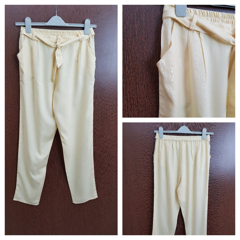 Front Knot Casual lowers - Light Yellow